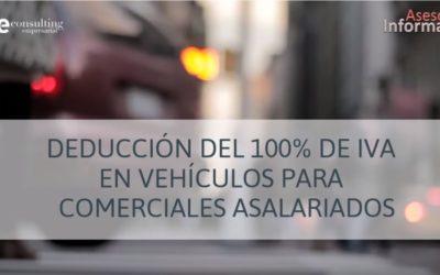 Deducción del IVA: Vehículos para comerciales asalariados. ASESOR INFORMA 3.0. Noviembre 2018