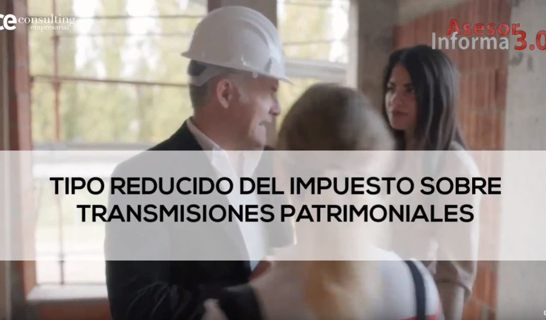 EL ITP REDUCIDO PARA REVENDER. ASESOR INFORMA 3.0. FEBRERO 2019.