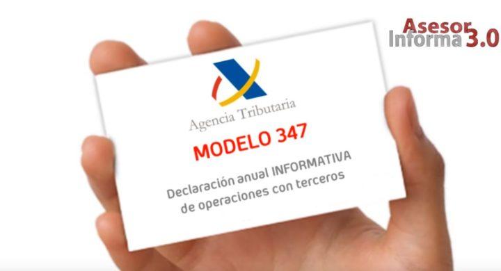 PREPARATE PARA EL MODELO 347… PERO EN FEBRERO. ASESOR INFORMA 3.0. ENERO 2019.