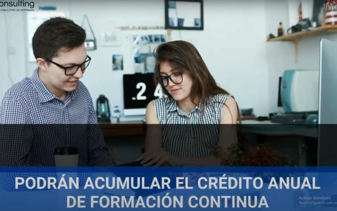 Acumulación del crédito anual de formación continua | Asesor informa 3.0